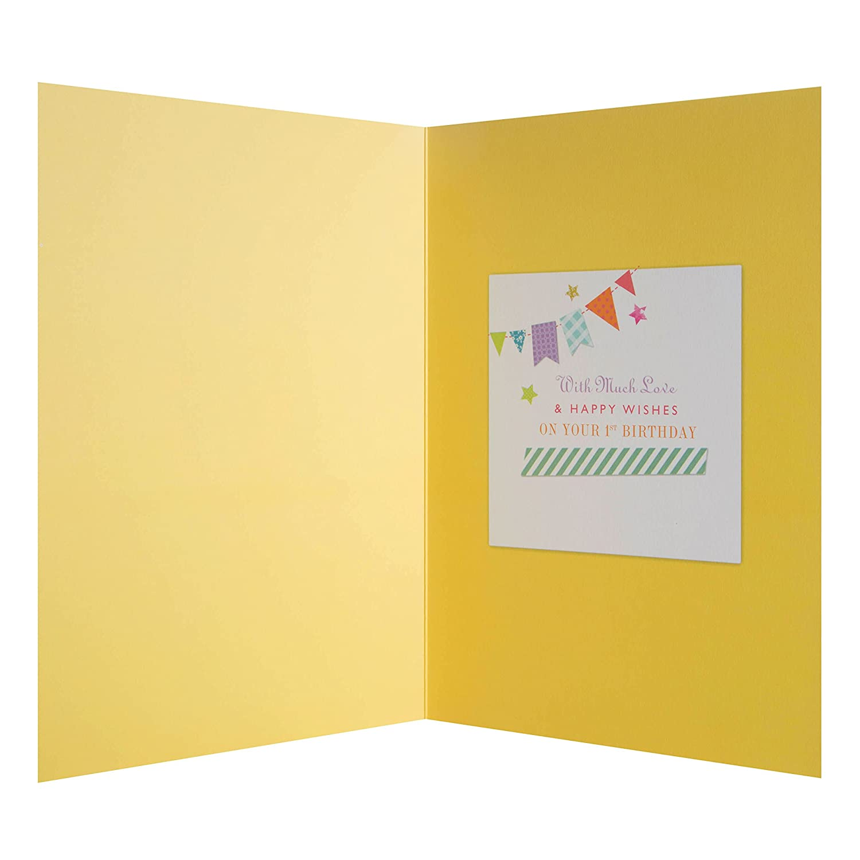 /Tarjeta de felicitaci/ón de primer cumplea/ños tarjeta de d/ía especial / /medio Hallmark/