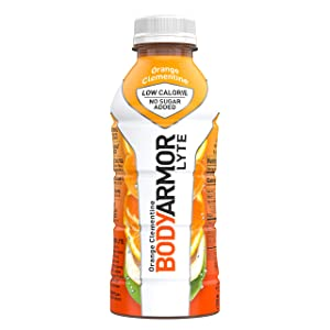 BODYARMOR LYTE Sports Drink Low-Calorie Sports Beverage, Orange Clementine - Orange Citrus, Natural Flavors With Vitamins, Potassium-Packed Electrolytes, Perfect For Athletes, 16 Fl Oz (Pack of 12)