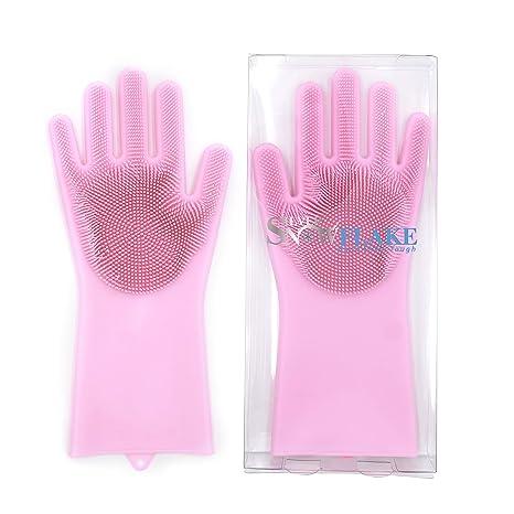 Amazon.com: Guantes de esponja de silicona para lavavajillas ...