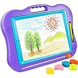 BATTOP Big Size Kids Drawing Board, Magnetic Colorful Erasable Skill Development Drawing Board Blackboard For Baby/Kids/Children (Purple)