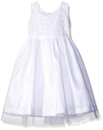787140bb5860a Amazon.com: Jayne Copeland Girls' Lace Scallop W Tulle Dress: Clothing