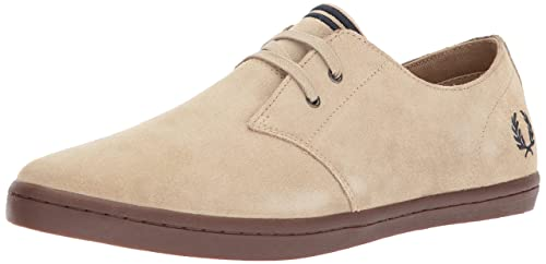 Fred Perry Byron Low, Zapatos de Cordones Oxford para Hombre, Marrón (Sandstorm/French Navy), 41 EU: Amazon.es: Zapatos y complementos