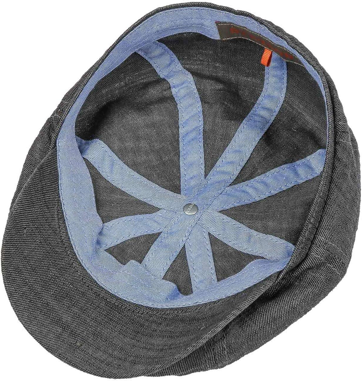 Made in Germany Berretto Newsboy Cotton cap con Visiera Primavera//Estate Stetson Coppola Hatteras Fairbank Metallic Uomo