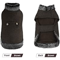 PAWZ Road Dog Clothes Pet Dog Coat for Puppy Cats, Winter Warm Dog Jumpers Cat Clothes, Cold Weather Dog Vest Soft…
