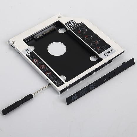 dy-tech 2 nd disco duro HD disco duro SSD Caddy Adaptador para ...