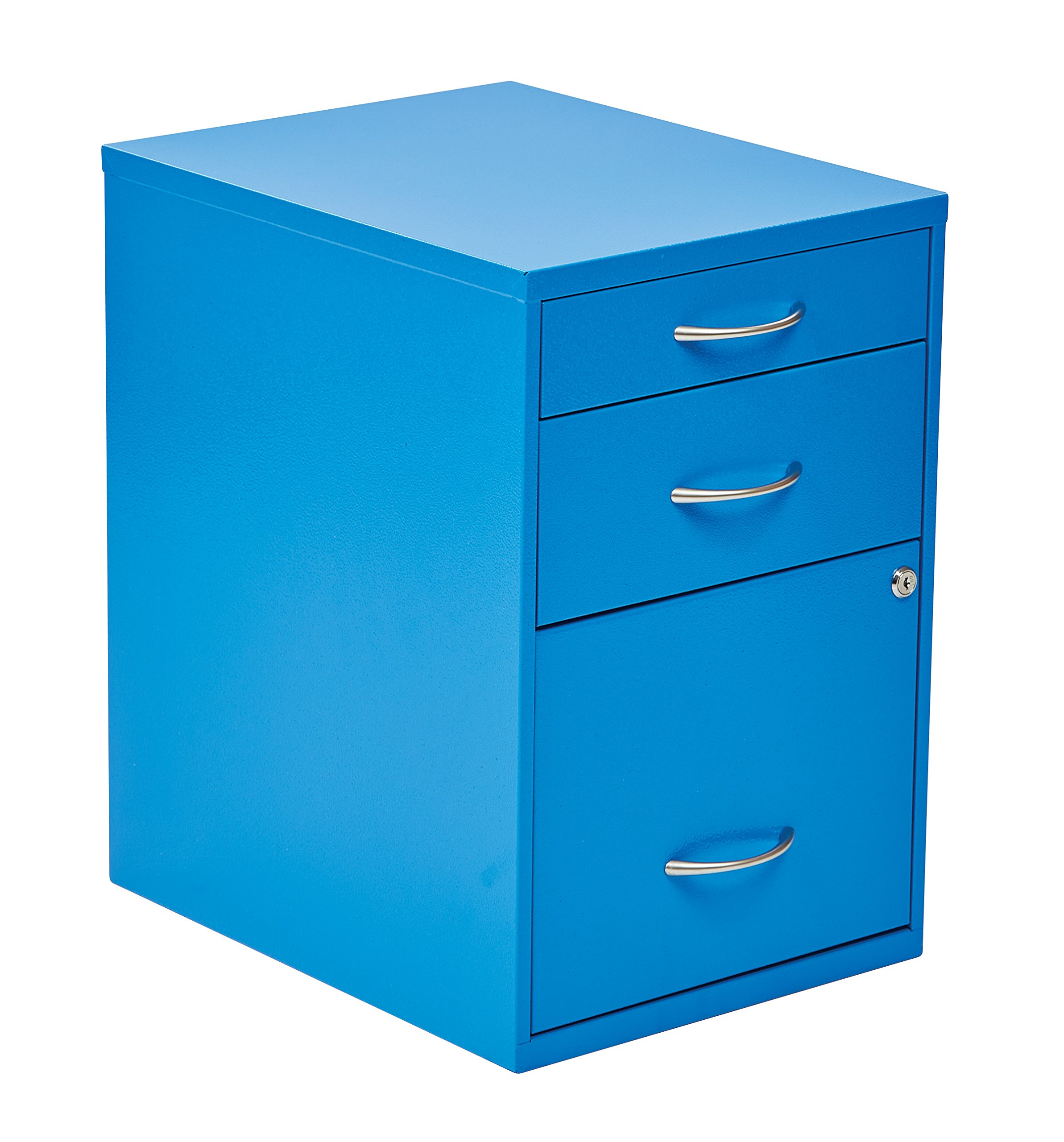 OSP Designs HPBF7 Pencil, Box and Storage File Cabinet, 22-Inch, Blue
