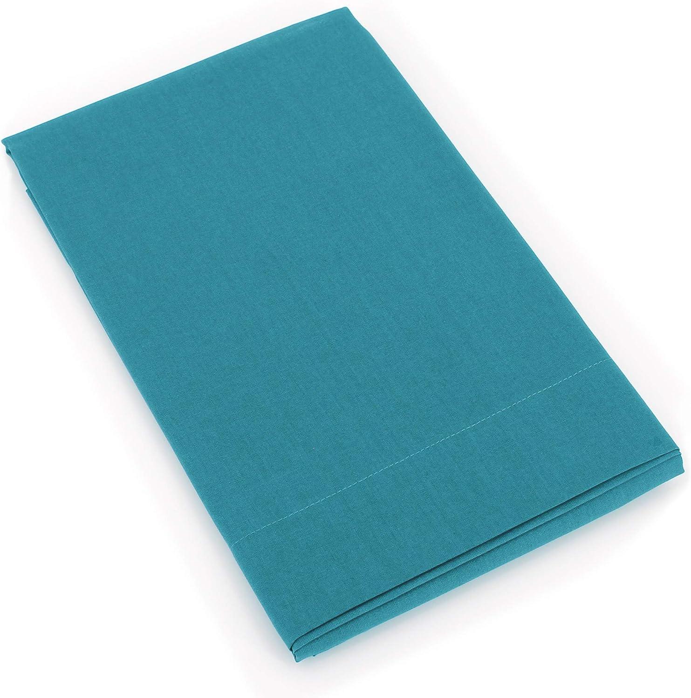 Linnea Taie de traversin uni 230X43 cm 100/% Coton Alto Bleu Colibri