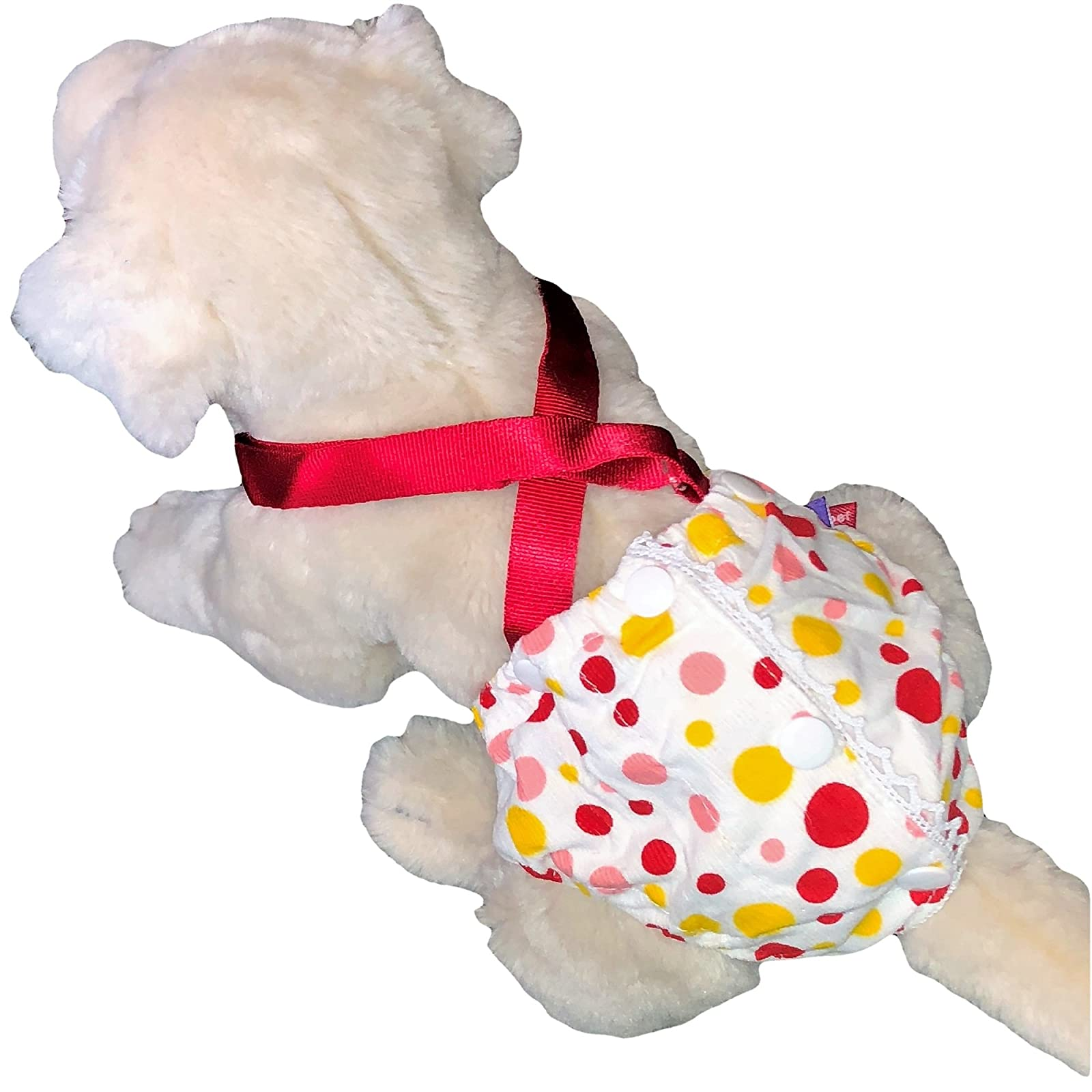 FunnyDogClothes Female Dog Diaper With Suspenders COTTON - 6