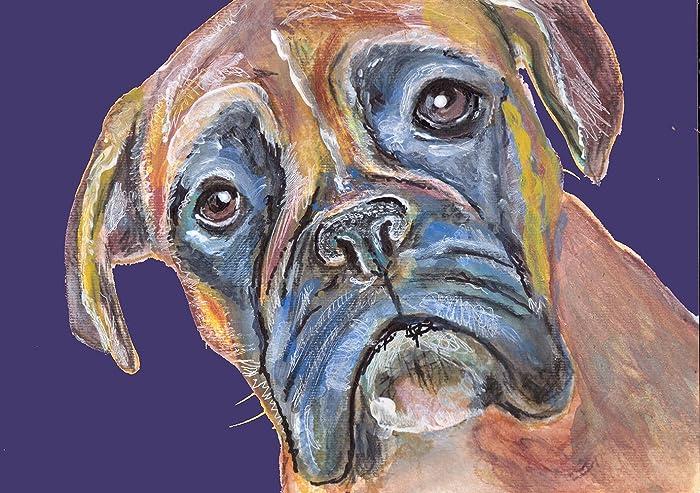 Amazon.com: Brindle Boxer Dog Gift, Boxer Dog Art Print, Boxer Mom ...