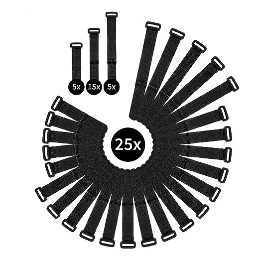 4 opinioni per WINTEX 25 fascette serracavo riutilizzabili e di prima qualità, fascetta