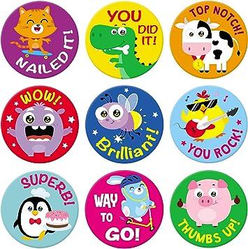 Motivational Stickers Birds and Flowers Reward Sticker Set 72 Count