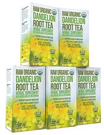 amazon com dandelion root tea detox tea raw organic vitamin rich