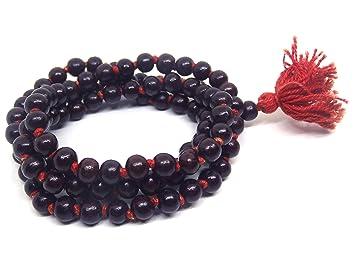 66e2181507df Himalaya Rudraksha Kendra 100% Original Siddha Energised Red Sandalwood  Rosary Lal Chandan Japa