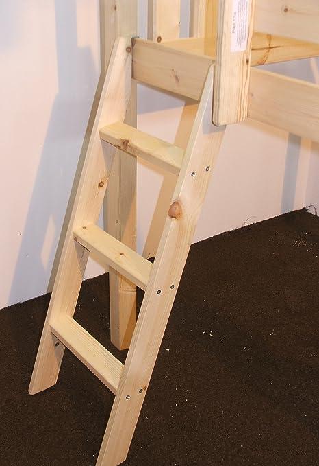 Litera de Madera de Pino para Cama de Cabina con Escalera para Dormir – litera de Madera de Pino Maciza: Amazon.es: Hogar
