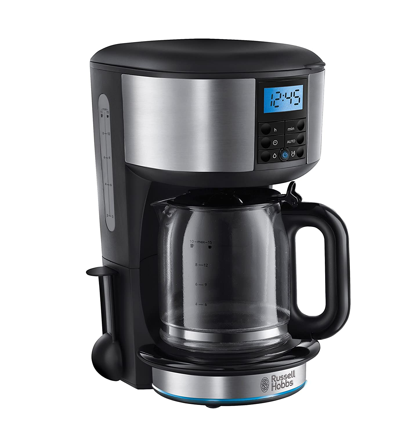 Electronic Filter Coffee Machines Uk amazon co uk filter coffee machines home kitchen russell hobbs 20680 buckingham maker 1 25 l black and silver