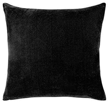 Velvet Black Cushion Cover Zipped 22quot