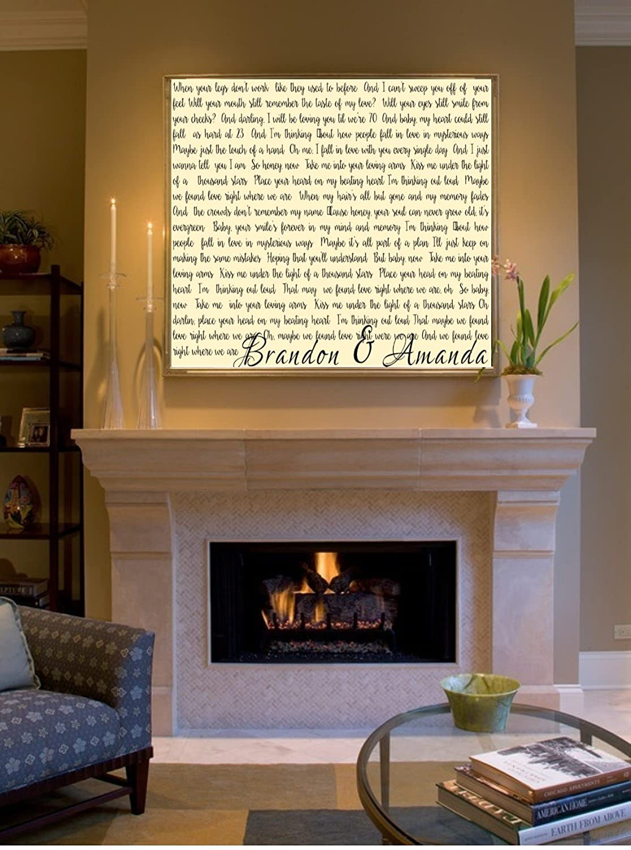 Wedding Gift Johnny Cash Ring of Fire Paper Anniversary Gift Art Print First Dance Song Lyrics Blush Valentines Light Gray