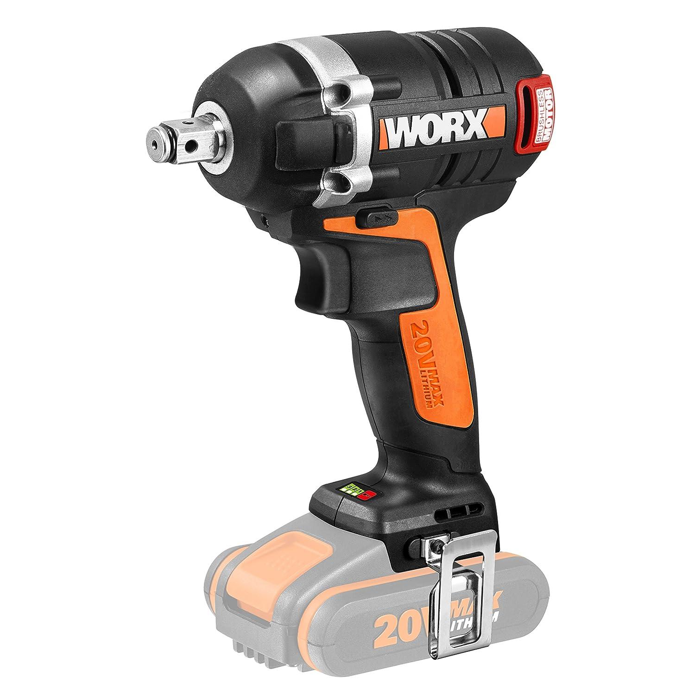 Worx wx279.920V moteur Brushless Batterie visseuse à percussion, 3vitesses, sans batterie, chargeur et accessoires, la puissance de variable, au choix, noir/orange