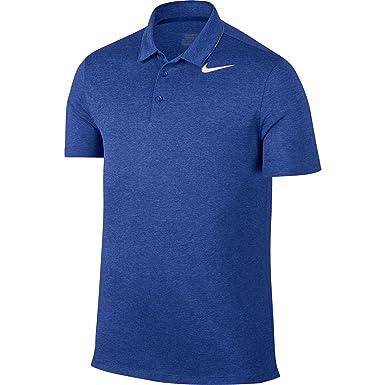 Polo de golf Nike Breathe Heather para hombre (Game Royal, Large ...