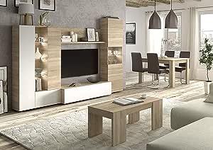HABITMOBEL Completo Conjunto de Salon; Mesa de Comedor Extensible ...