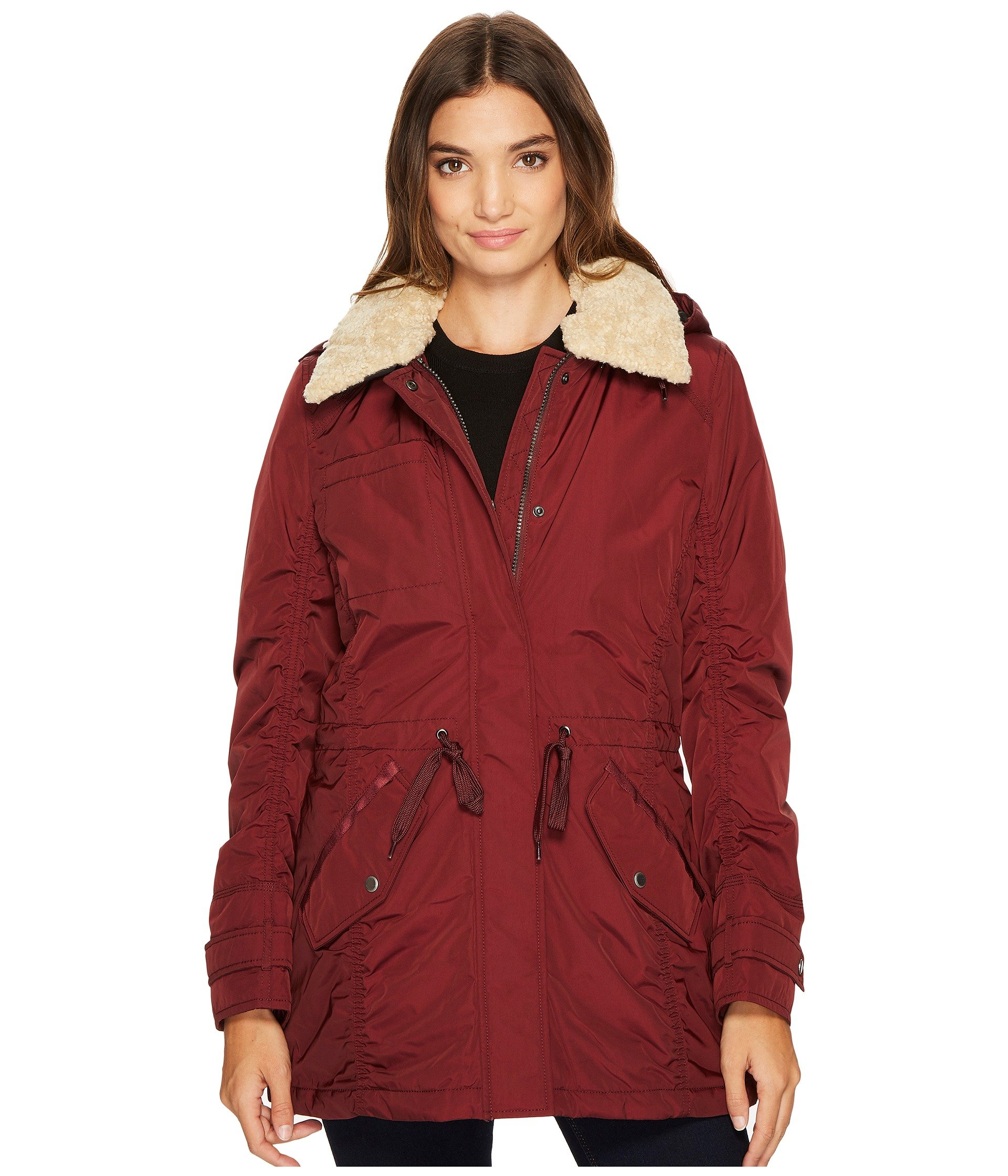 Marc New York by Andrew Marc Women's Nandie Fine Twill Nylon Jacket, Burgundy, Extra Large