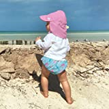 i play. Baby Toddler Girls' Snap Reusable Absorbent Swimsuit Diaper Aqua Dolphins 3T