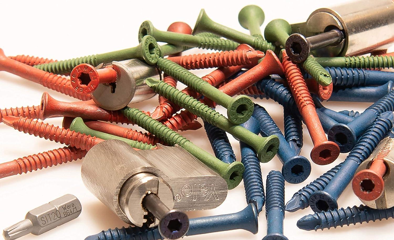 1 SIT20 Bit f/ür Schl/üsseldienst Schloss Zieh-Werkzeug Kein Schraub-Fix mehr erforderlich Ziehschraube 4,2 x 47mm 50 St/ück Original Multipick Zugschraube