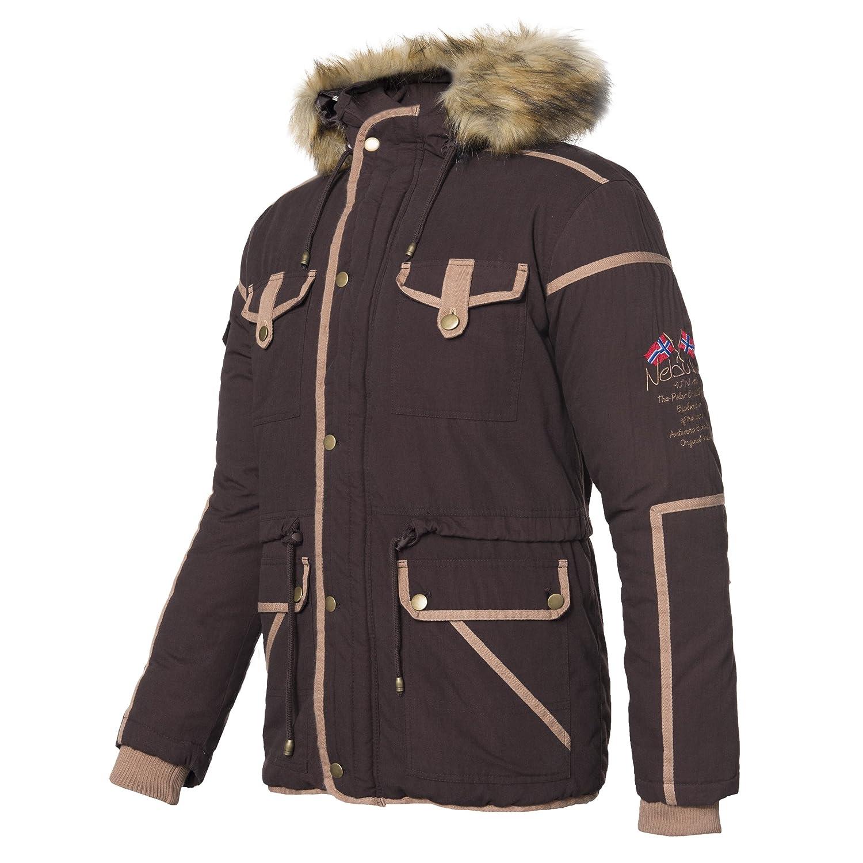 Nebulus Belfort (T085) - Hooded Winter Jacket/Parka with Faux Fur Hood