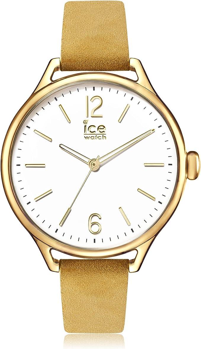 TALLA Medium. Ice-Watch - Ice Time Beige Champagne - Reloj Beige para Mujer con Correa de Cuero