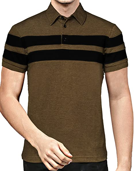 EYEBOGLER Regular Fit Men s Cotton T-Shirt (S-T46HS1-OMBL, Olive  Melange-Black, Small)  Amazon.in  Clothing   Accessories 231f997aa2
