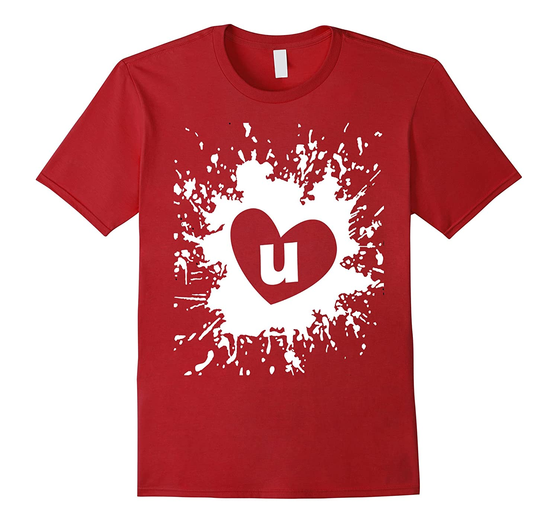 Abstract Art Love Tshirt For MenWomenBoys Girls I Love U-Vaci