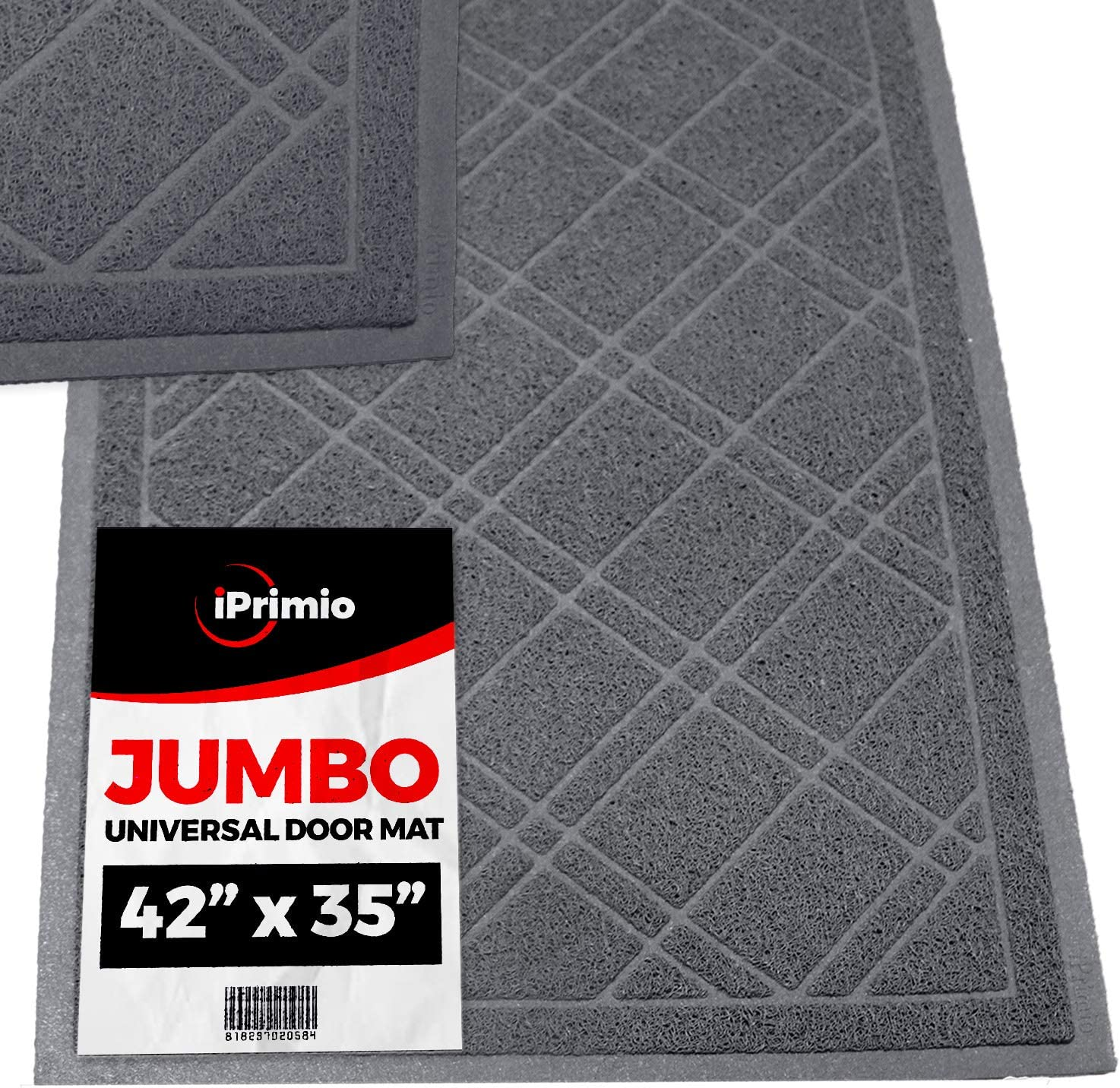 Amazon Com Sliptogrip Universal Gray Door Mat With Duraloop Jumbo 42 X35 Outdoor Indoor Entrance Doormat Waterproof Low Profile Door Mat Welcome Front Door Garage Patio Garden Outdoor