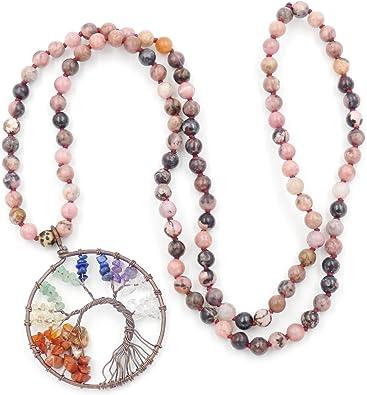 Les chapelets bouddhistes Collier Mala Beads Bracelet Collier de Perles de Mala Tassel Collier