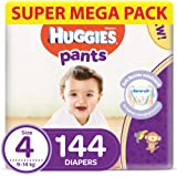 Huggies Active Baby Pants - Size 4, 9-14 kg, 144 Diapers Pants