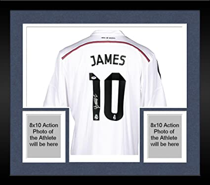 bfd54b33576 Framed James Rodriguez Real Madrid Autographed White Jersey - Fanatics  Authentic Certified - Autographed Soccer Jerseys at Amazon's Sports  Collectibles ...
