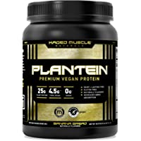Vegan Protein Powder; Kaged Muscle Plantein, Delicious Organic Pea Protein Powder with Enhanced Absorption (15 Servings…