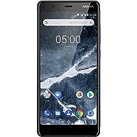 Nokia 5.1 Version 2018 Smartphone (13,97 cm (5,5 Zoll) HD+ Dislplay, 16GB, 2GB RAM, 16MP Kamera, langlebiger Vollalurahmen, Android Oreo, Dual SIM, Amazon Edition inkl. Displayschutzfolie) schwarz