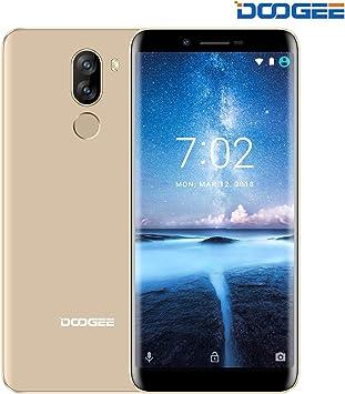 Smartphone, DOOGEE X60L Dual SIM Moviles Libres, 4G Android 7.0 Telefonos, 5.5 Pulgadas HD IPS Display, 2GB RAM + 16GB ROM, 13.0MP + Cámaras Traseras Duales 8.0MP, Batería Grande 3300mAh, Oro: Amazon.es: Electrónica