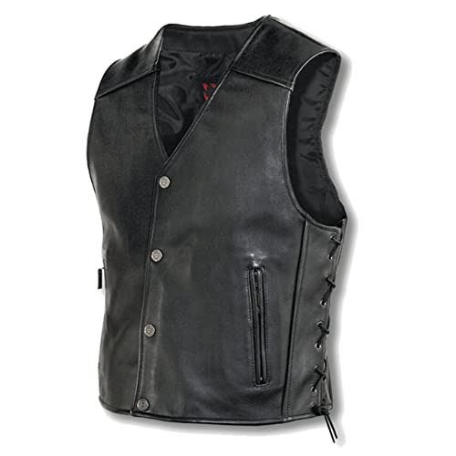 Motorcycle Leather Vest Amazon Com