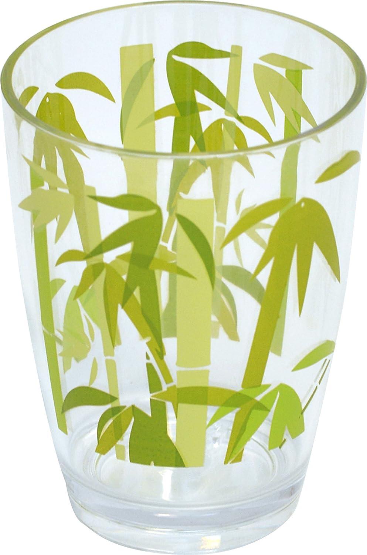 EVIDECO 610048 Ecobio Clear Acrylic Printed Bathroom Tumbler Tendance