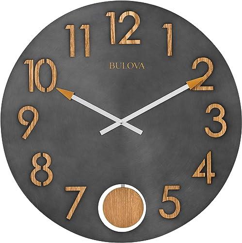 Bulova C4119 Flatiron Wall Clock