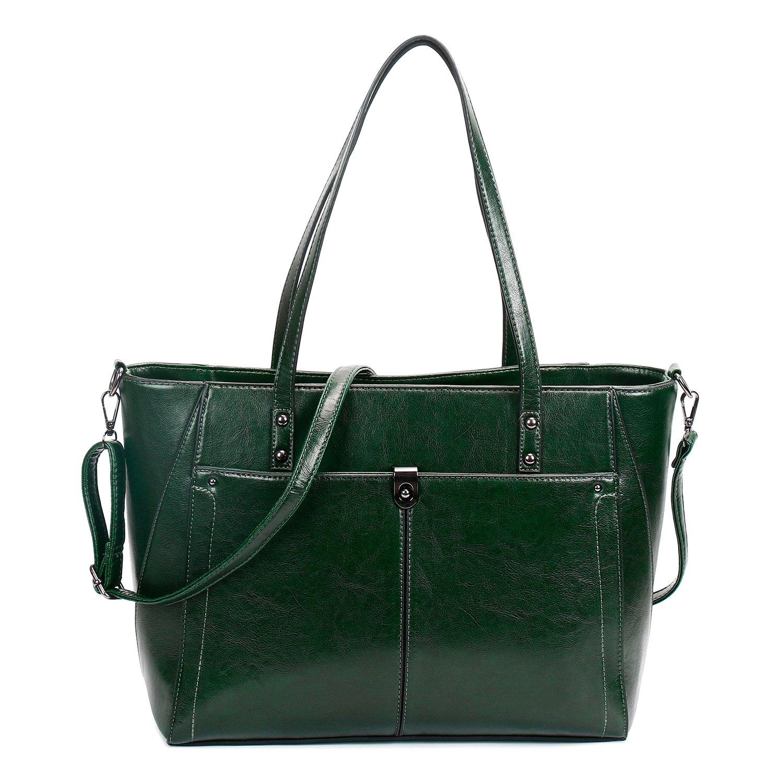SIFINI Women PU Leather Large Shoulder Bag New Style Ladies Purse Handbag Messenger Bag Tote Bags (green)