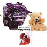 Skylofts Plus With A Cute Teddy And A Birthday Card( 9Pcs Chocolate )