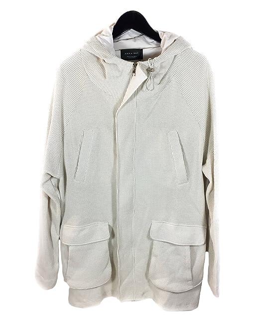Zara - Abrigo - para hombre blanco blanco crema X-Large: Amazon.es: Ropa y accesorios
