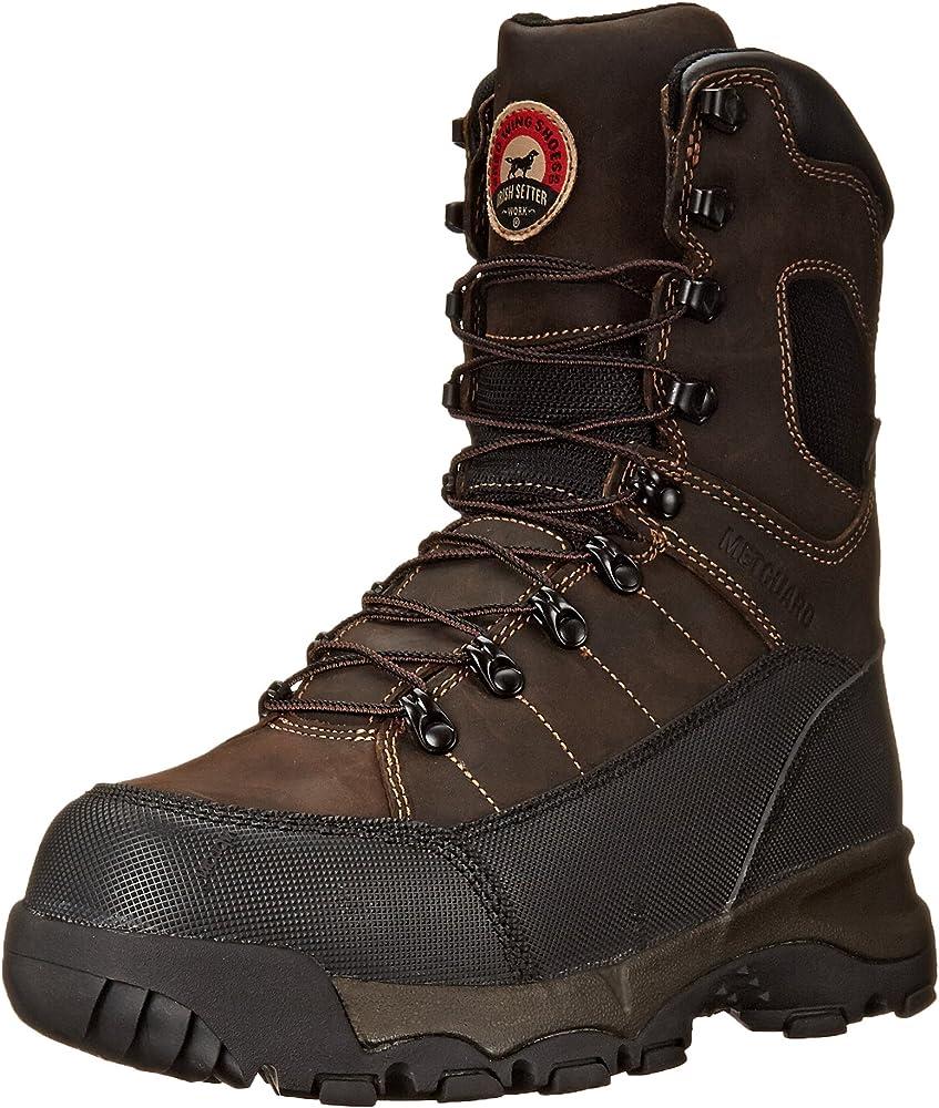 Non-Metallic Toe Work Boot,Brown,8 EE