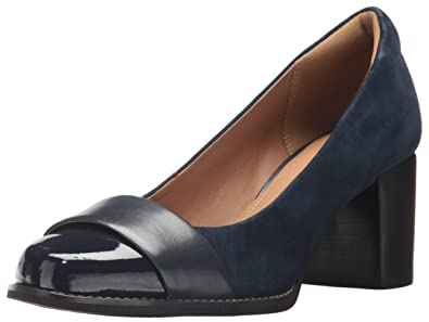 73dc334c184 CLARKS Women s Tarah Brae Dress Pump Navy Combi 5 ...