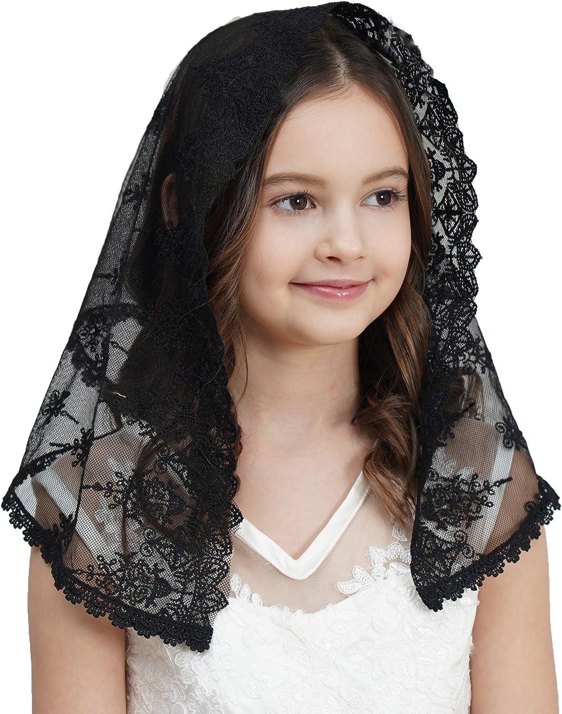 White first communion veil flower girl first communion veil girls mantilla childs veil communion headpiece baptism veil communion hair piece
