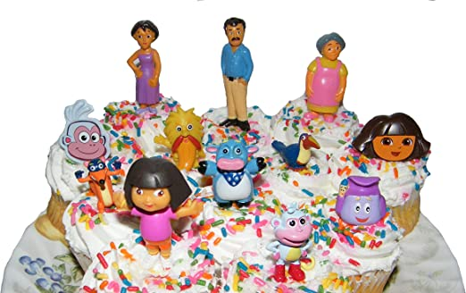 Peachy Amazon Com Nickelodeon Dora The Explorer Deluxe Set Of 10 Cake Funny Birthday Cards Online Alyptdamsfinfo