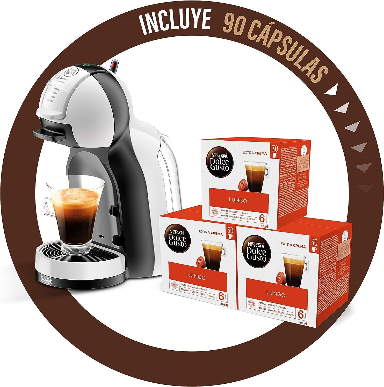 DeLonghi Dolce Gusto Mini Me EDG305.WB - Cafetera de cápsulas + Nescafé Dolce Gusto Magnum Café Lungo - Cápsulas de Café - 3 x 30 - 90 Cápsulas: Amazon.es: Hogar
