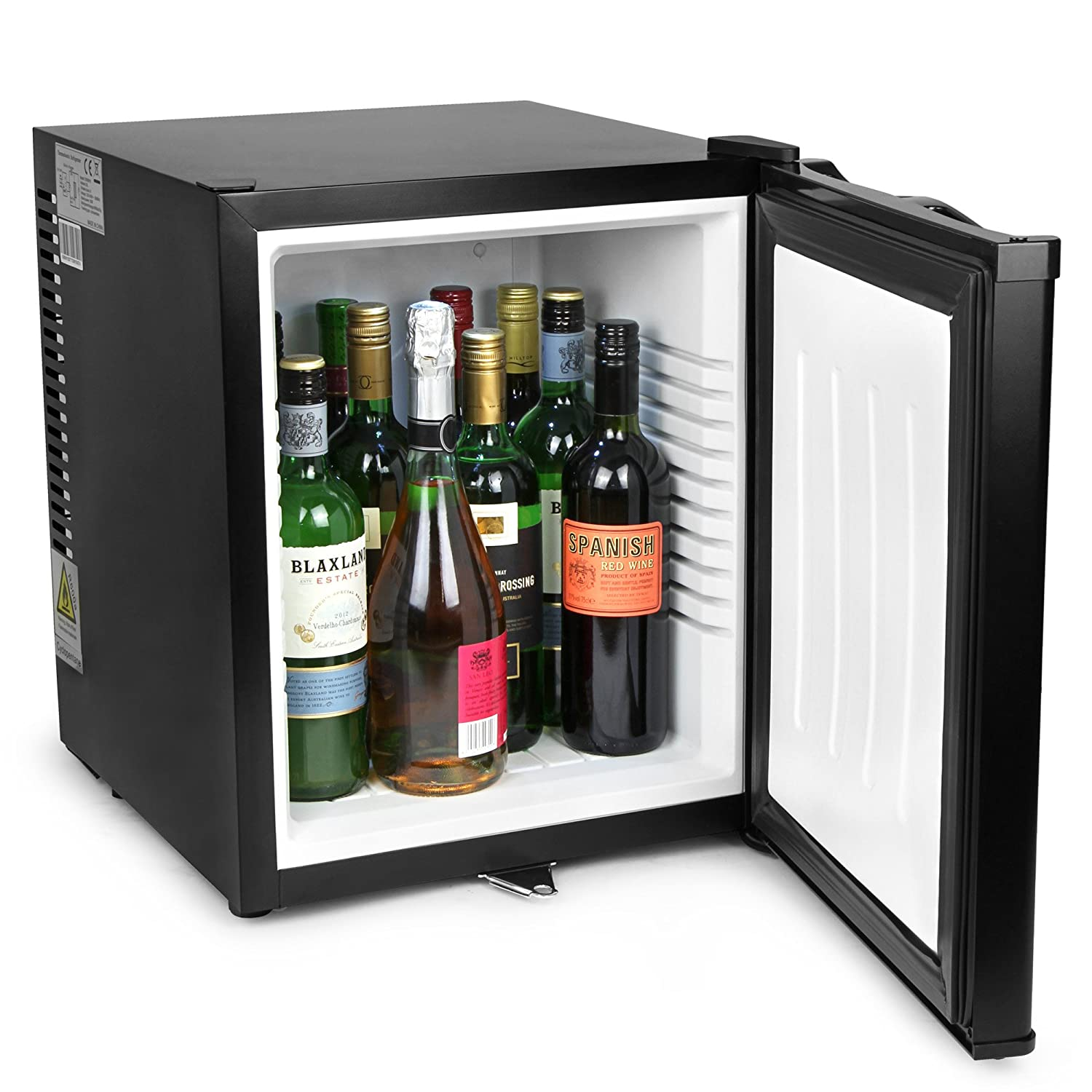 bar@drinkstuff ChillQuiet Silent Mini Bar Fridge 32ltr Black by Quiet Running Mini Bar, Hotel Mini Bar, Compact Fridge